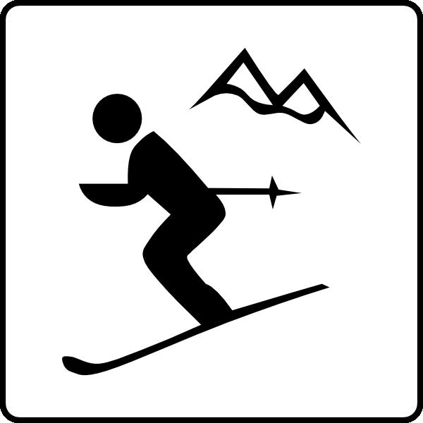 Ski Mountain Clipart.
