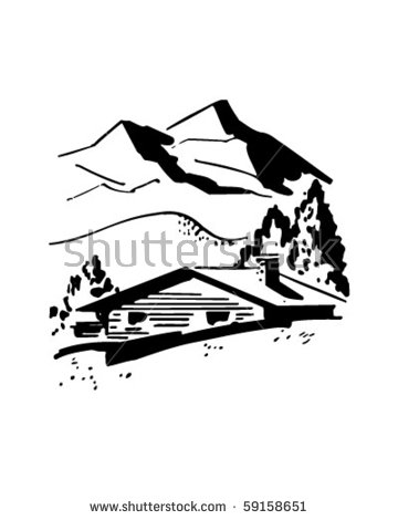 Mountain Cabin Stock Images, Royalty.