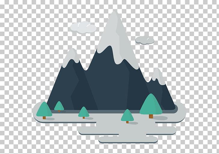 Alborz Sabalan Mountain Icon, Snow Mountain, trees in front.