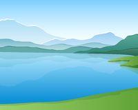Mountain lake clipart.