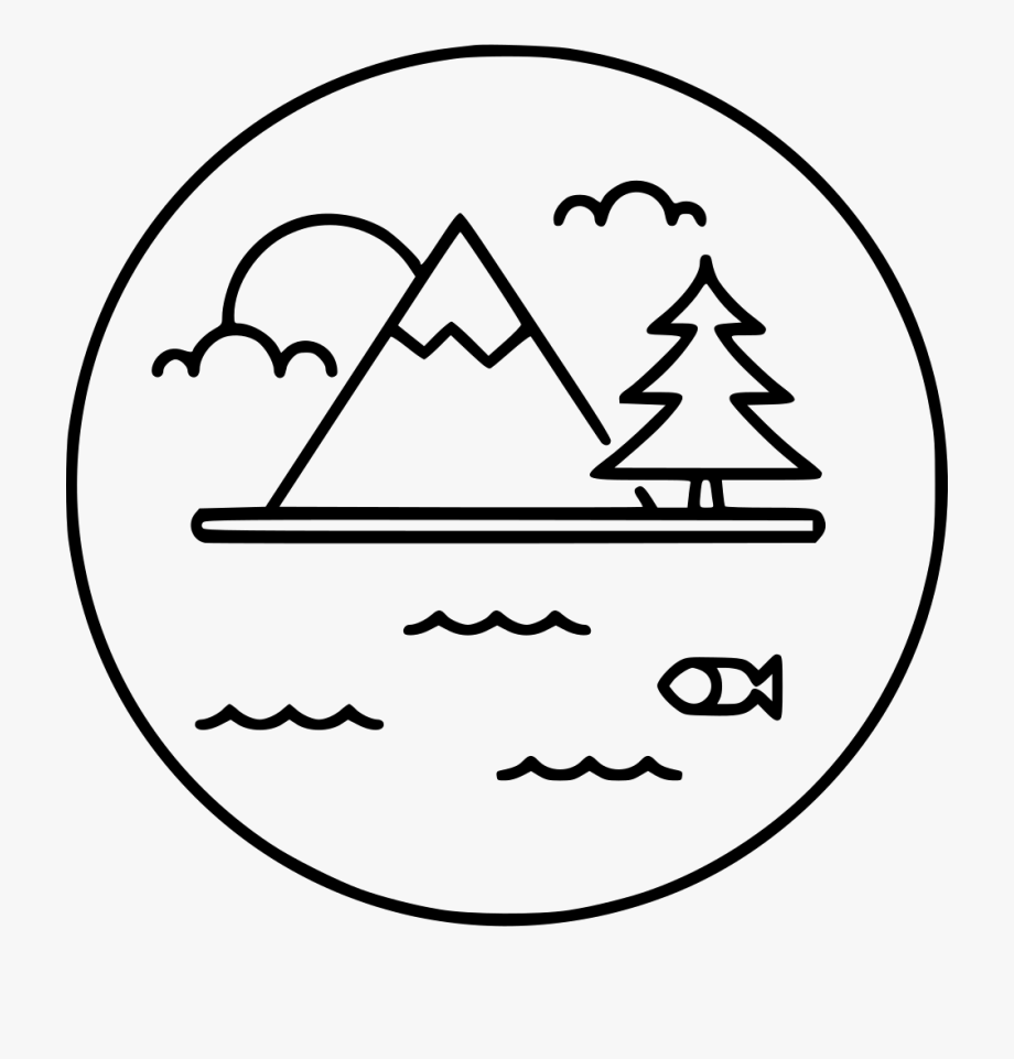 Mountain Lake Icon Png, Cliparts & Cartoons.