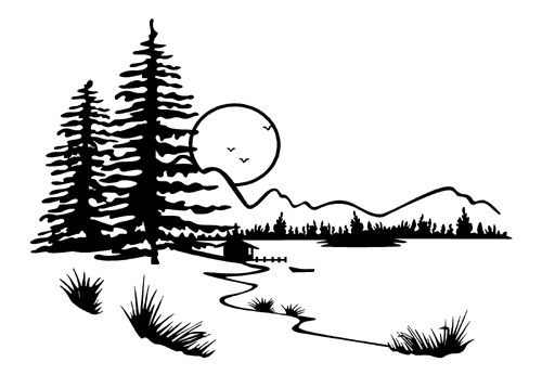 Lake Scene Coloring Pages.