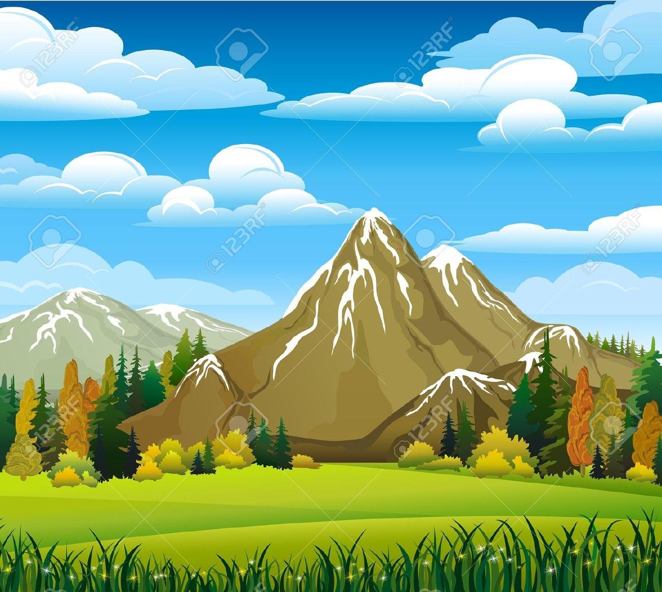 Mountain meadows clipart - Clipground