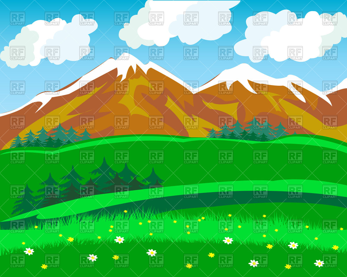Summer in mountains Vector Image #94038.