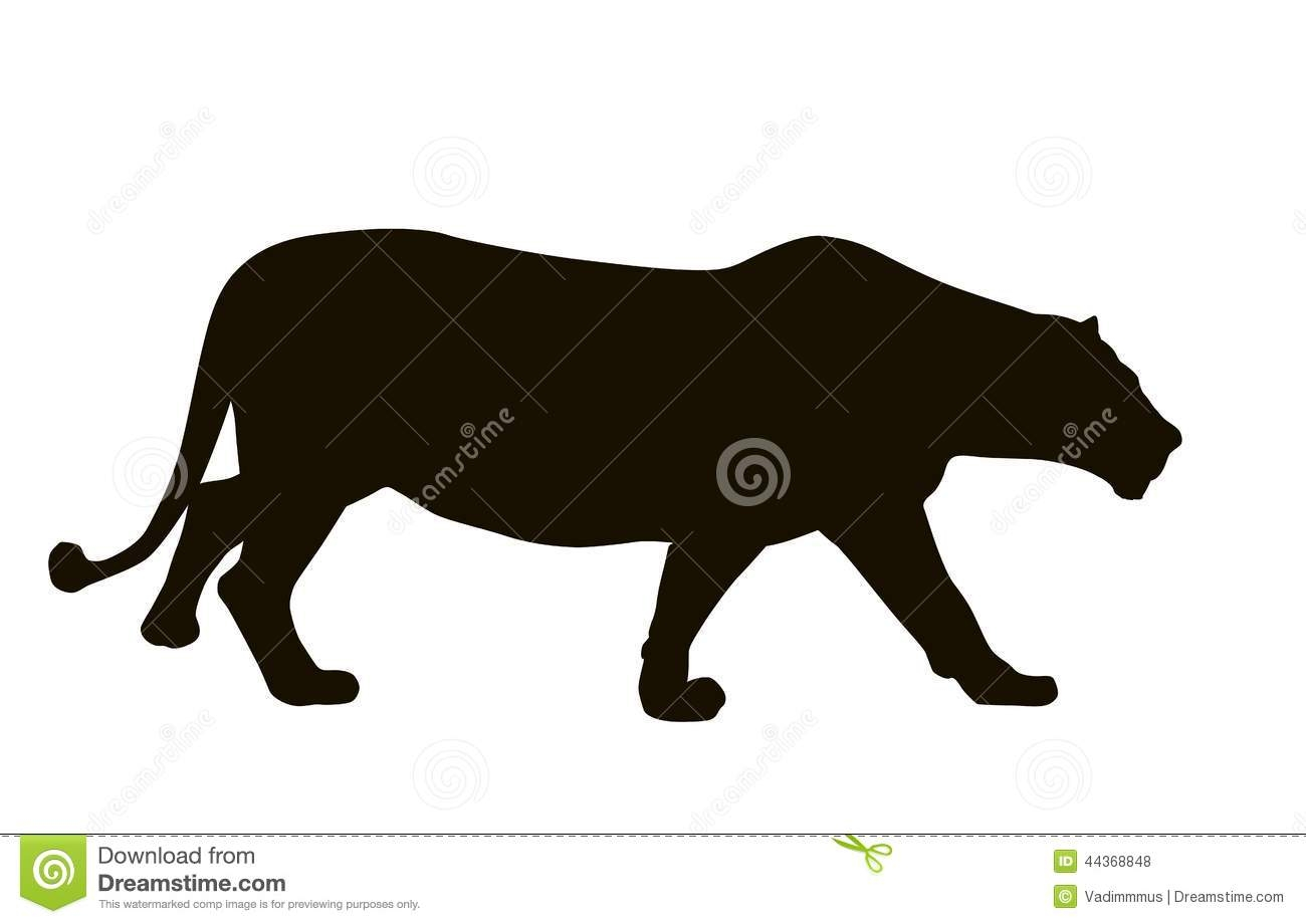 Mountain Lion Silhouette Clipart.