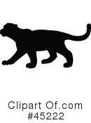 Mountain Lion Silhouette Clipart #1.