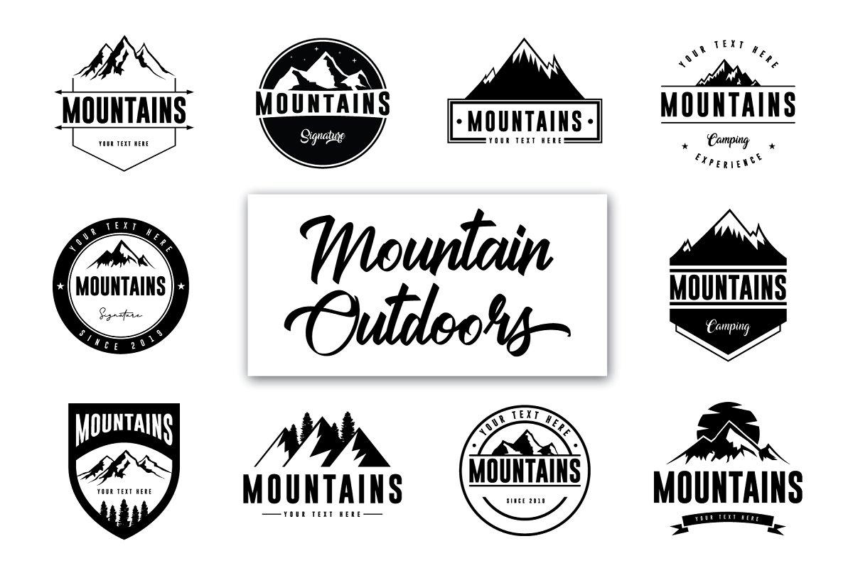 Minimal Mountain Logos.