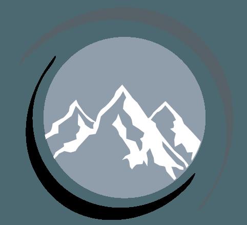 Make Online mountains Logo design.