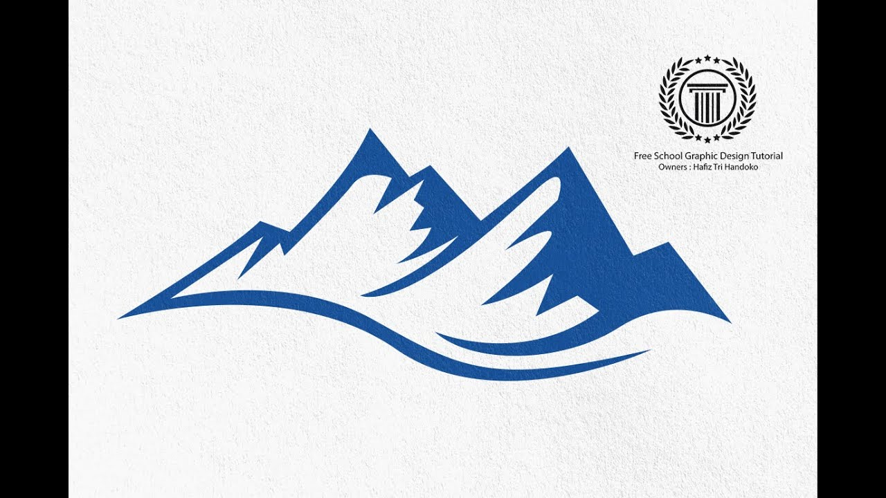 Mountain shape Logo Design Tutorial.