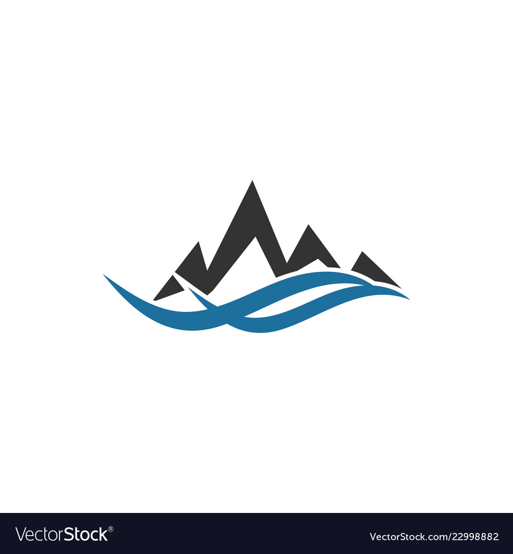 Mountain logo graphic design template.