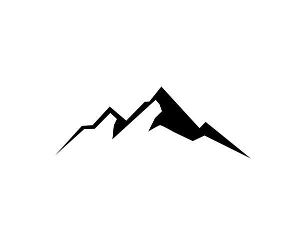 Mountain logo vector illustration.
