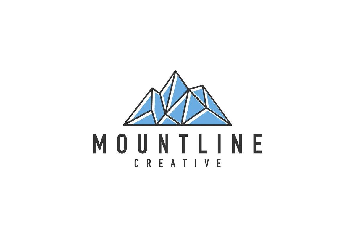 monoline mountain logo.