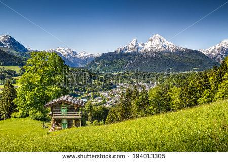 Alpine Mountain Stock Photos, Royalty.