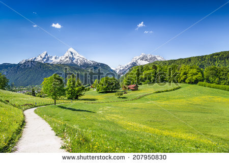 Hiking Alps Stock Images, Royalty.