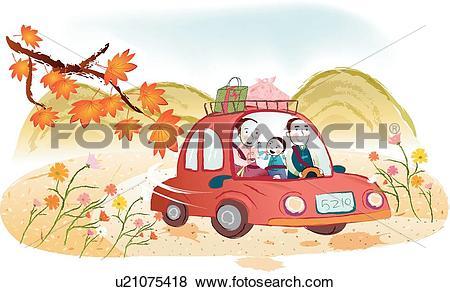 Stock Illustration of mountains, maple leaves, mountain, Maple.