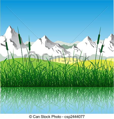 Mountain meadow Clipart Vector and Illustration. 2,290 Mountain.