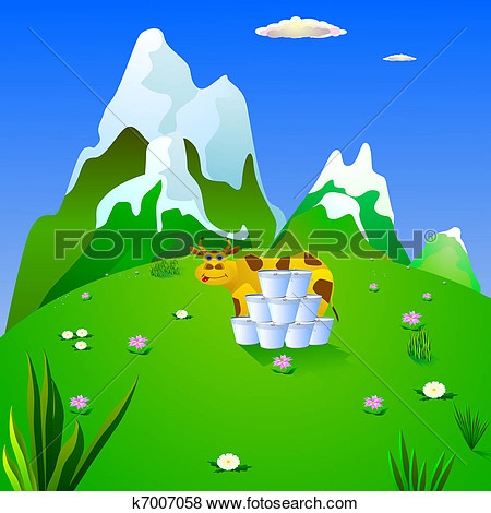 Mountain Meadow Clipart.