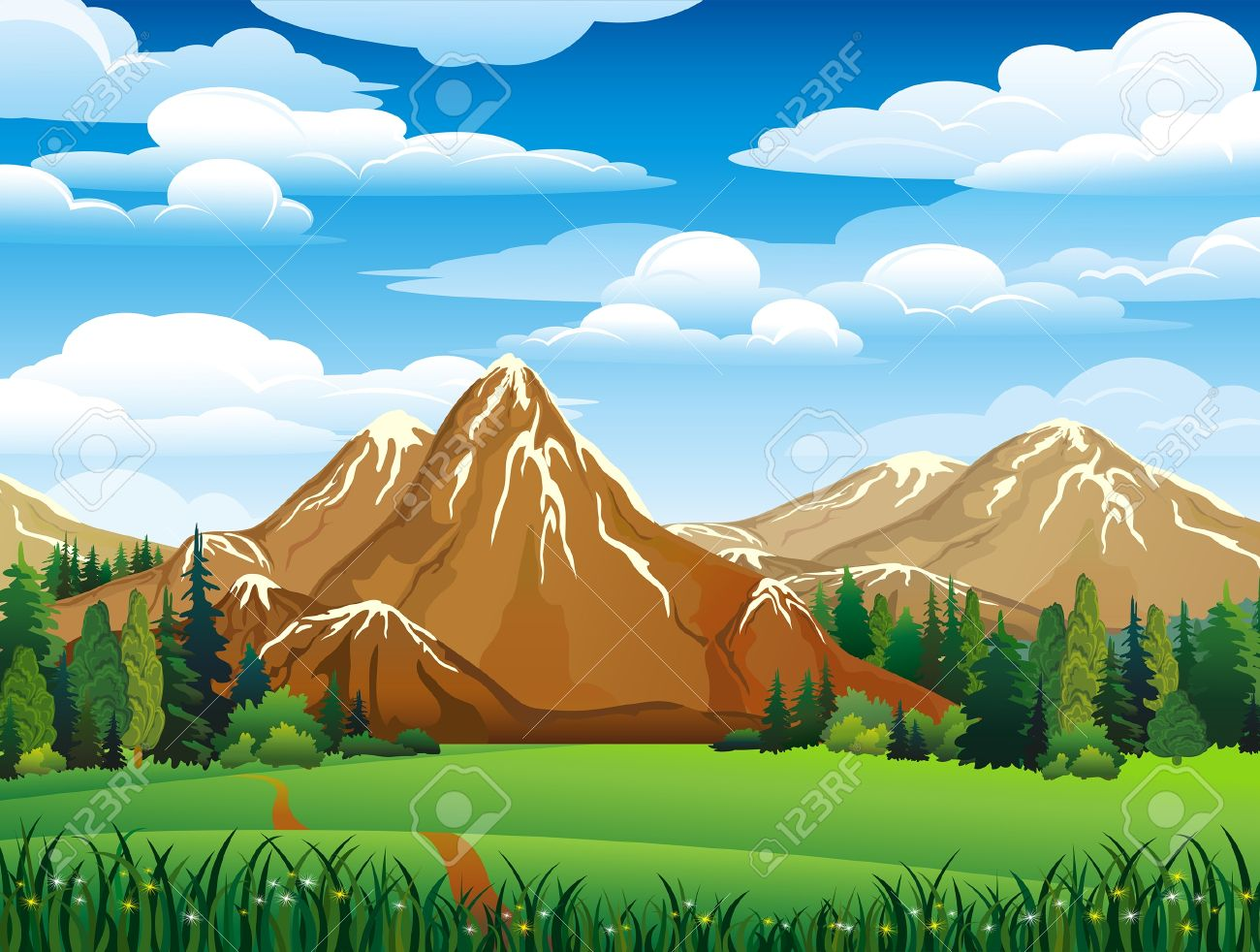 Mountain Meadow Clipart Clipground