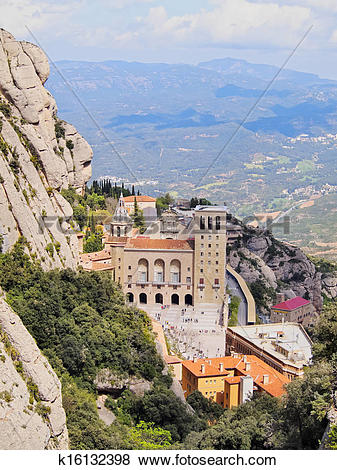 Pictures of Monastery in Montserrat, Spain k16132398.