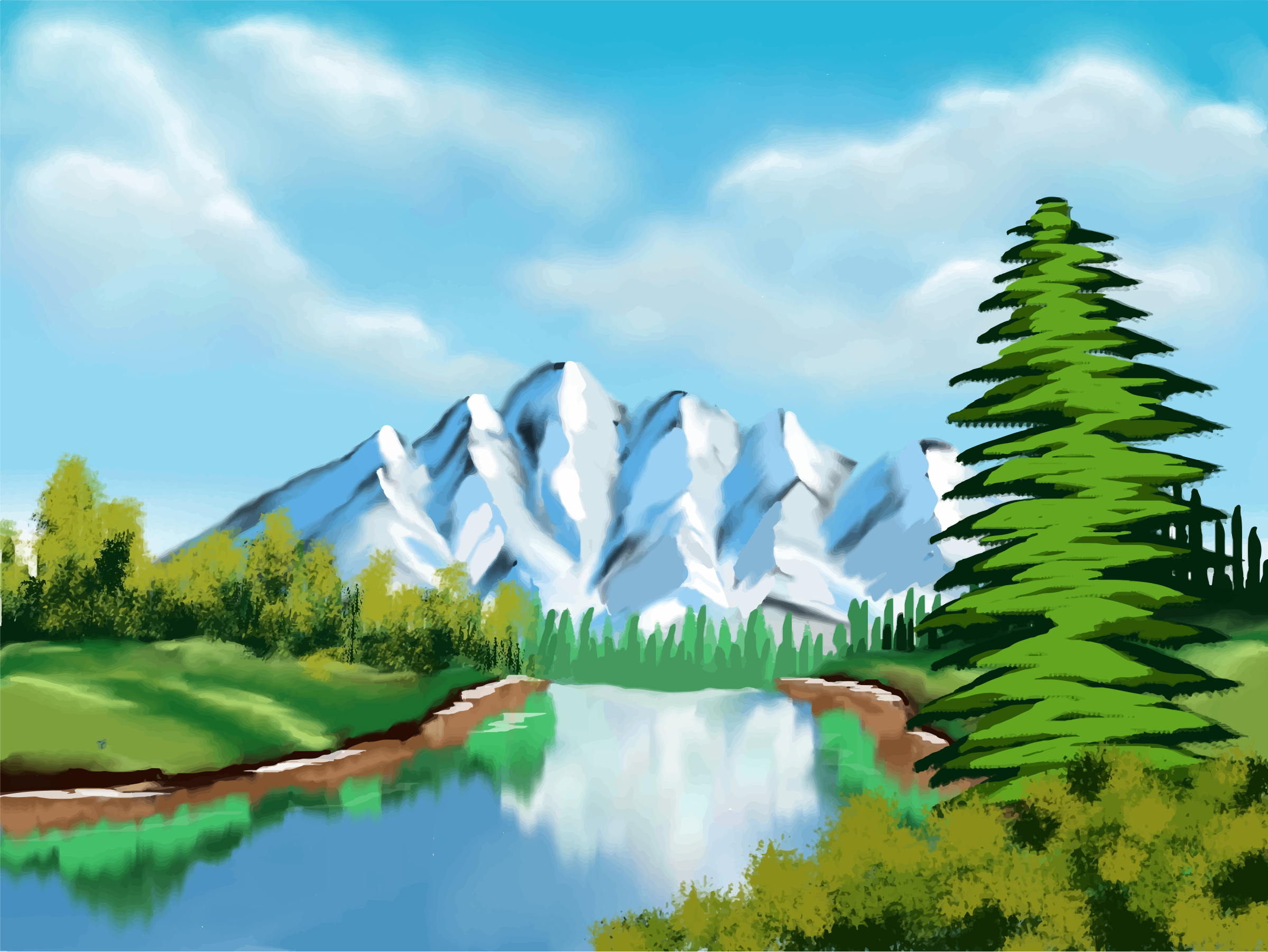 Nature mountain clipart.