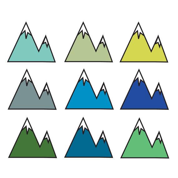 60% OFF SALE Digital Clip Art Mountain Clip Art Nature.