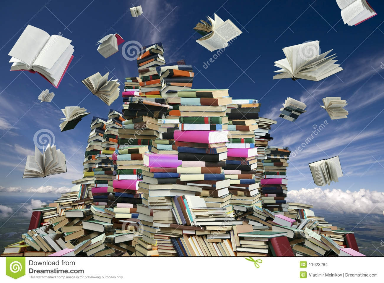 Mountain Of Books Clipart.