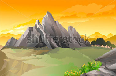 Rocky mountain clipart.