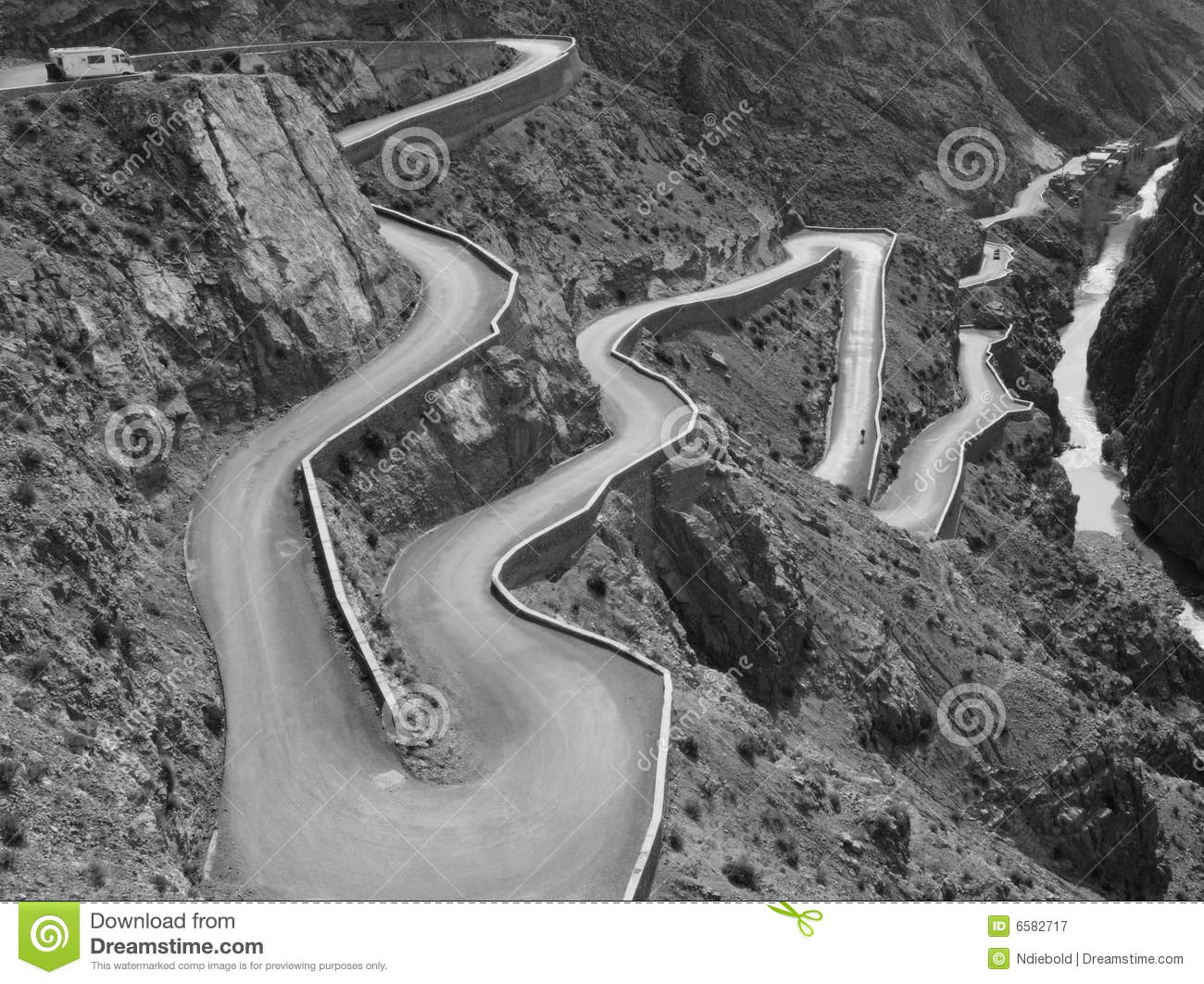 Winding Road Mountain Pass Royalty Free Stock Photography.