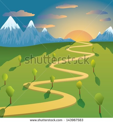 Mountain trail clipart.