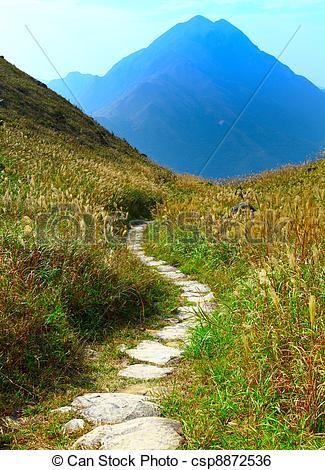 Stock Image of mountain path csp8872536.