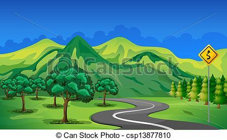 Clip Art Mountain Path.