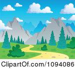 Mountain Path Clipart.