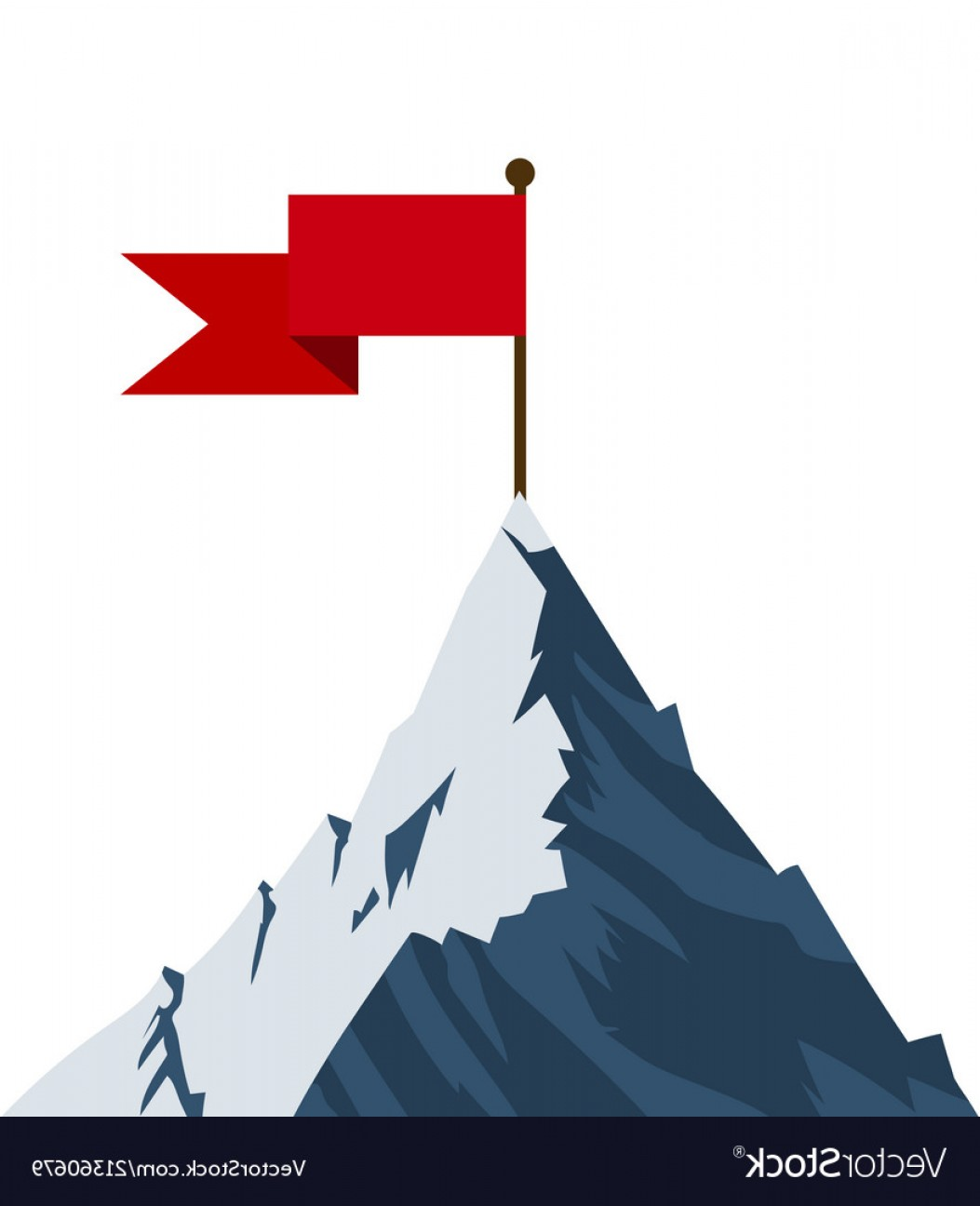 Mountain Peak Vector Art.