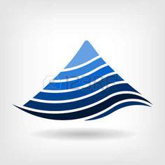Mountain country road logo. Vector graphic design.