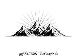 mountain peak clipart.