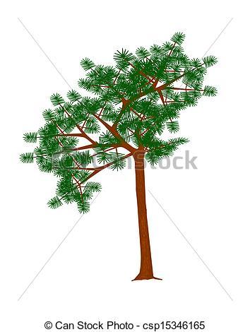 Clip Art Vector of Mountain pine..