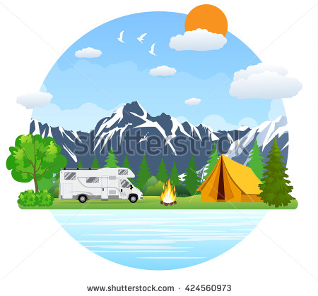 Rv Camper Stock Images, Royalty.