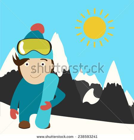 Mountain Worker Miner Prospector Emerging Mine Stock Vector.