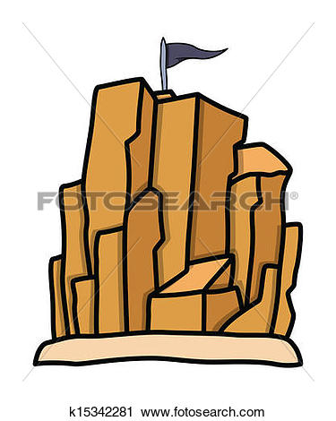 Clipart of Pirates Living Place Rock Mountain k15342281.