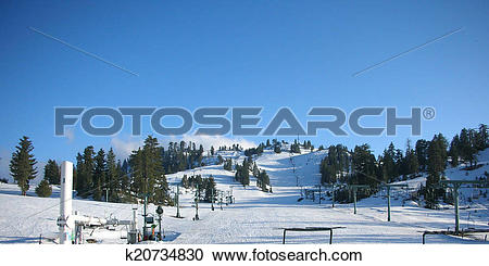 Stock Photography of ski mountain place k20734830.
