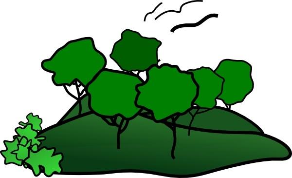 Landscape Mountain Trees clip art Free vector in Open office.
