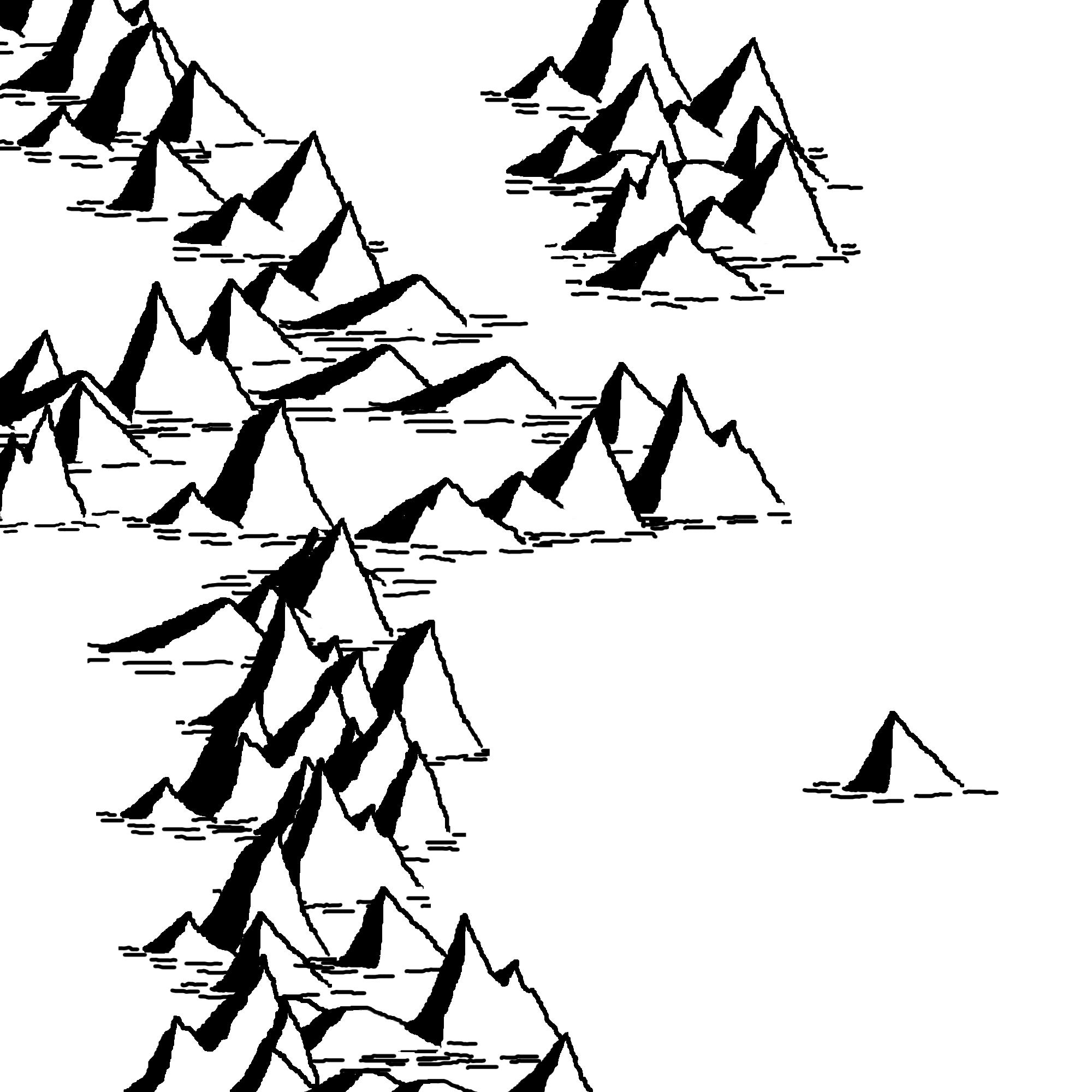 Mountain Line Art.
