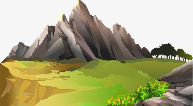 Mountains, Mountain Peak, Trees PNG and Vector with.