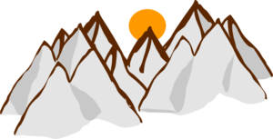 Clipart Mountain Range.