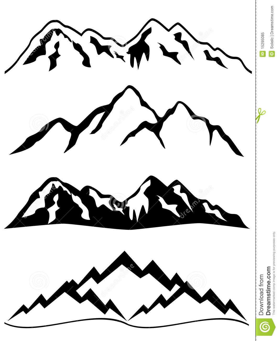 Mountain range clip art.