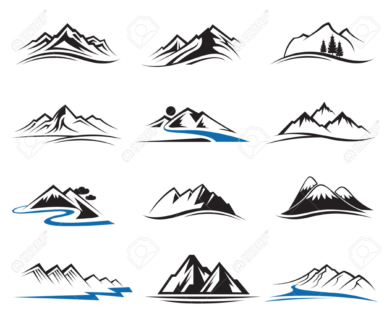 2,300 Mountain Ridge Stock Illustrations, Cliparts And Royalty.