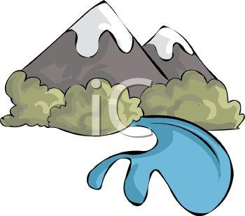 Mountain River Clipart.