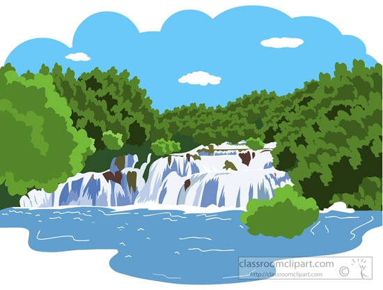 Mountain with river clipart 3.