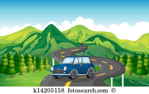 Mountain road Clip Art Vector Graphics. 5,382 mountain road EPS.