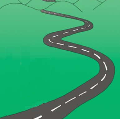 Road into mountains clipart png.